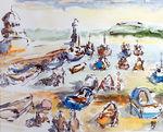 Zeichnung: Hafen von St.Ives 1