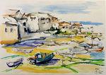 Zeichnung: Hafen von St.Ives 2