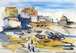 Zeichnung: Hafen von St.Ives 3