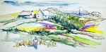 Zeichnung: Küstenpfad