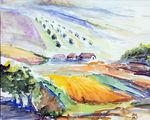 Zeichnung: Spanien Dorf Bei Ronda